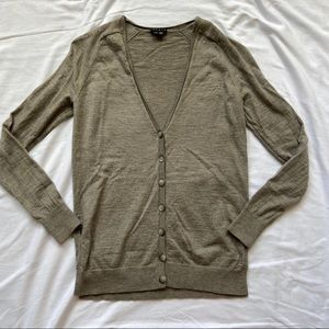 Theory 100% Wool Norrisa Preen Button Up Sweater